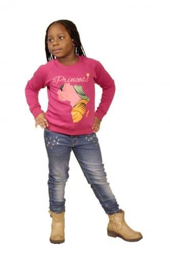 Barn college tröja lilla Rosa fram